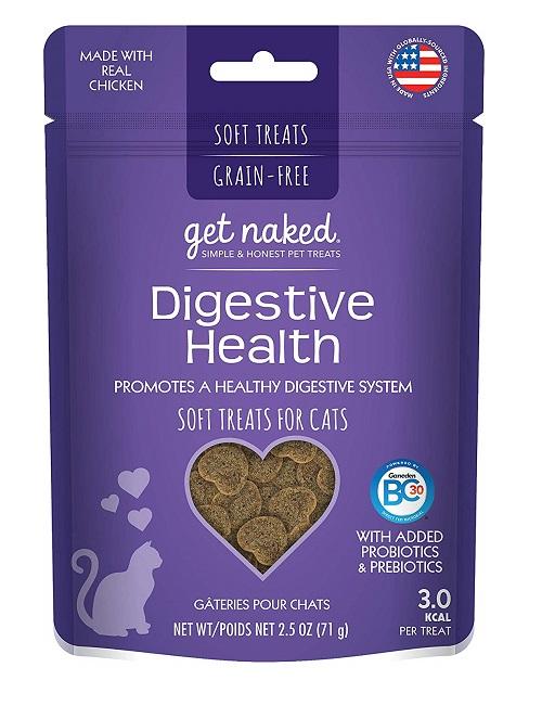 GET NAKED Digestive Health Soft Cat Treats, 2.5-oz bag