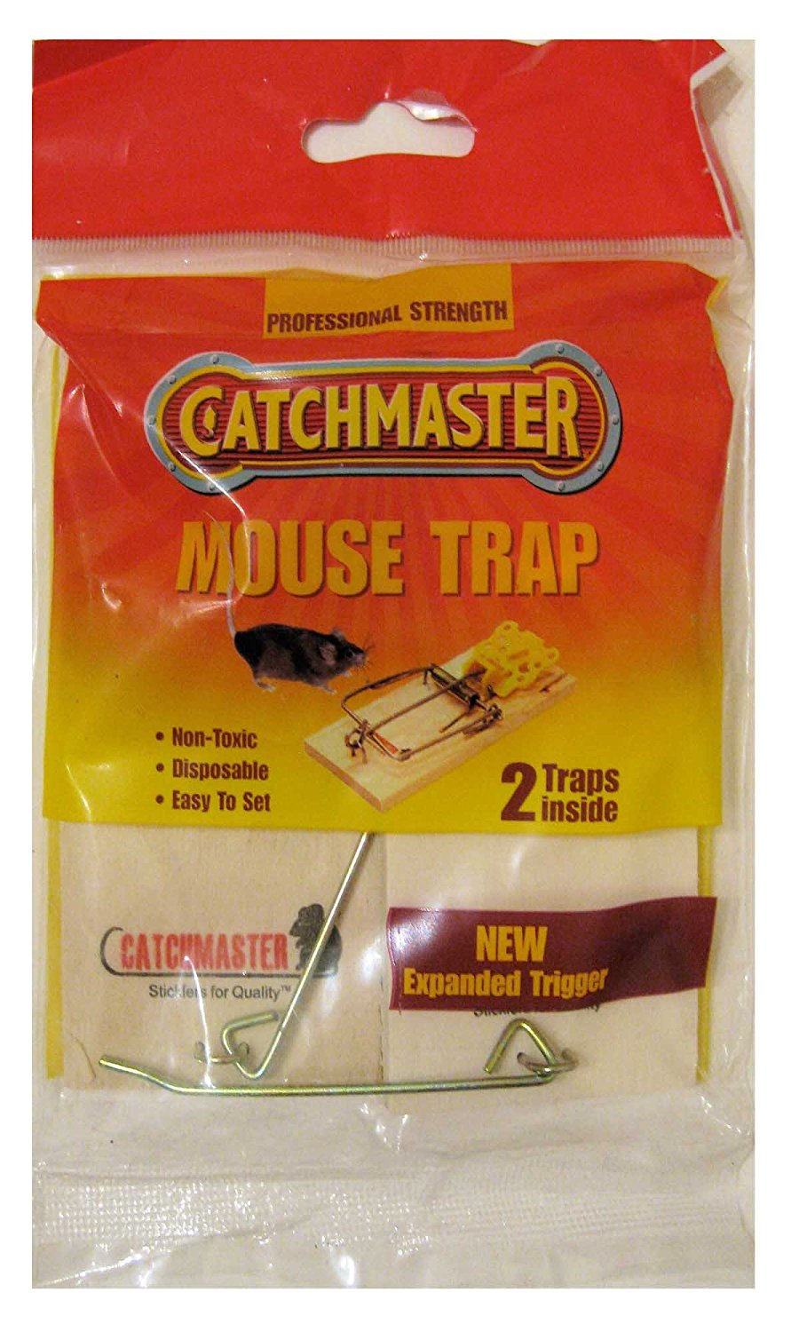 Details about CATCHMASTER - Mouse Wood Trap - 2 Traps