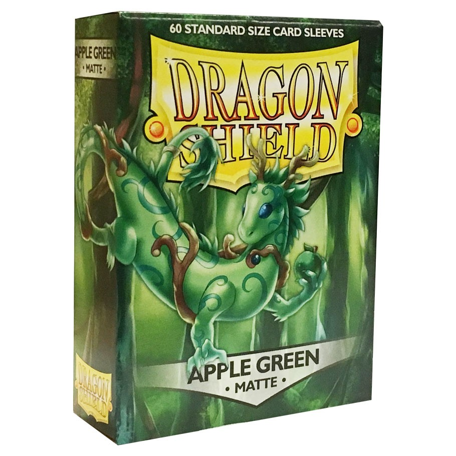 100 Card Sleeves  x1 Dragon Shield APPLE GREEN Matte