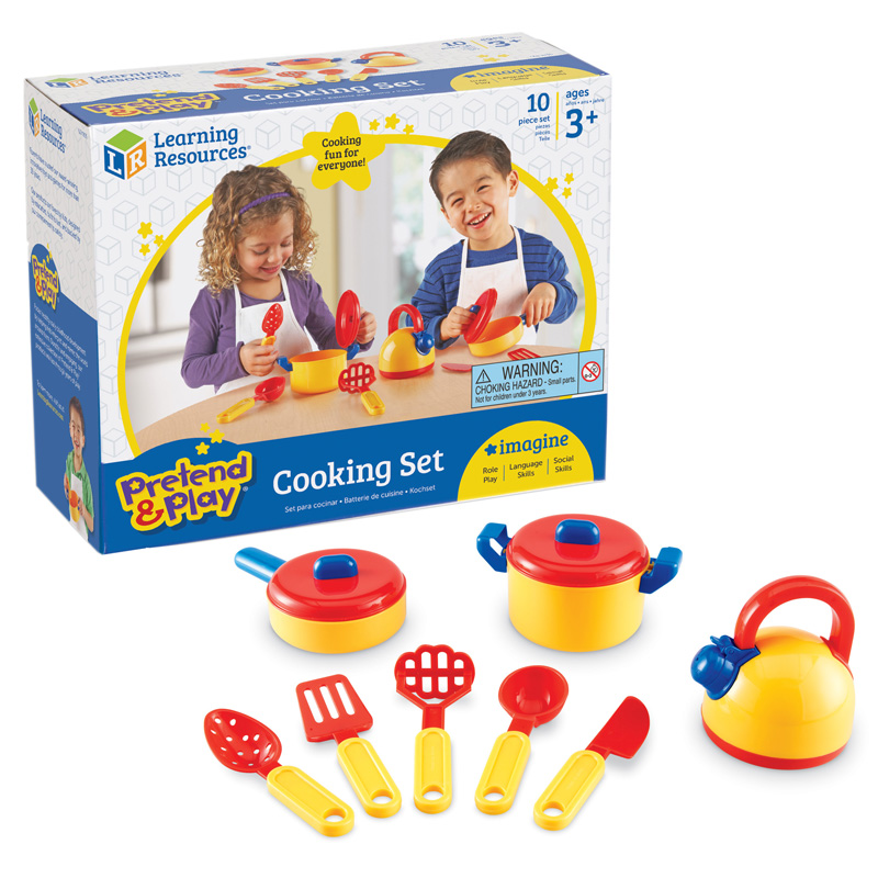 6985ace067bae Details about Learning Resources - Pretend   Play Cooking Set 10 Pcs