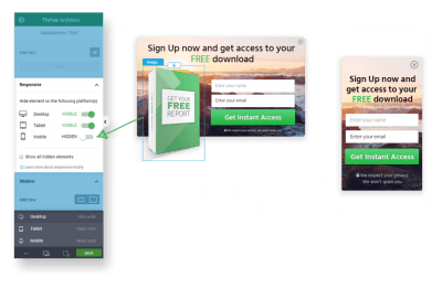 Thrive Leads Responsive Design