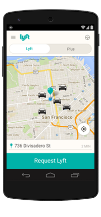 You can request a Lyft from your iPhone or Android phone.