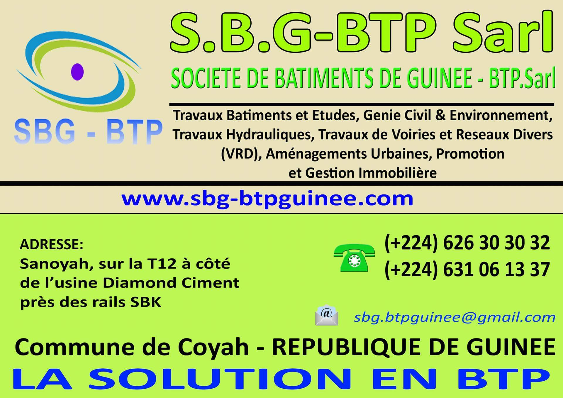 Societe de batiments de guinee conakry travaux b time for Societe construction immobiliere