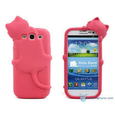 coque Samsung galaxy S3 CHAT ROSE