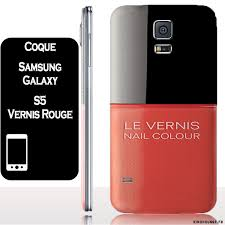 coque Samsung galaxy S5 VERNIS ROUGE