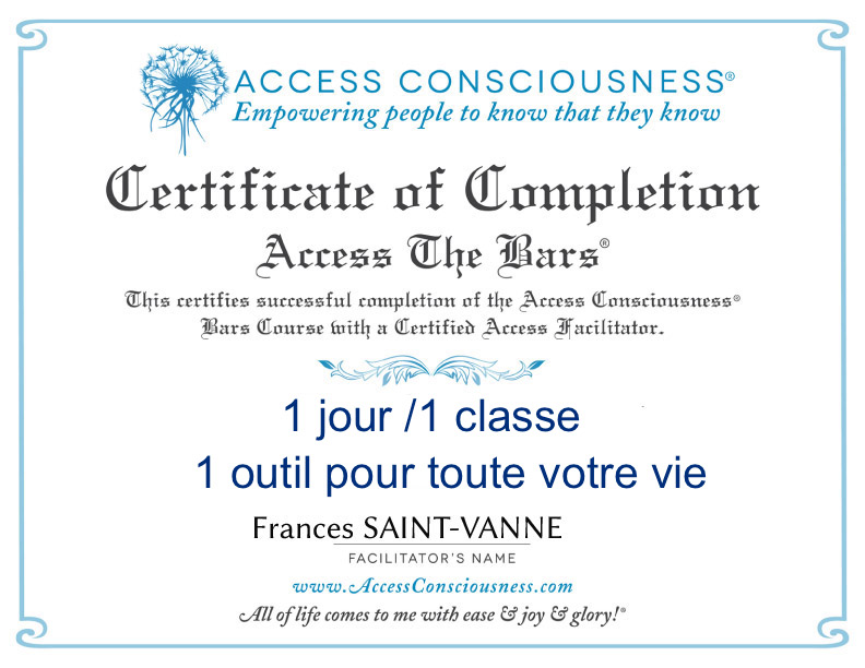 Classe « Praticien Access Bars »