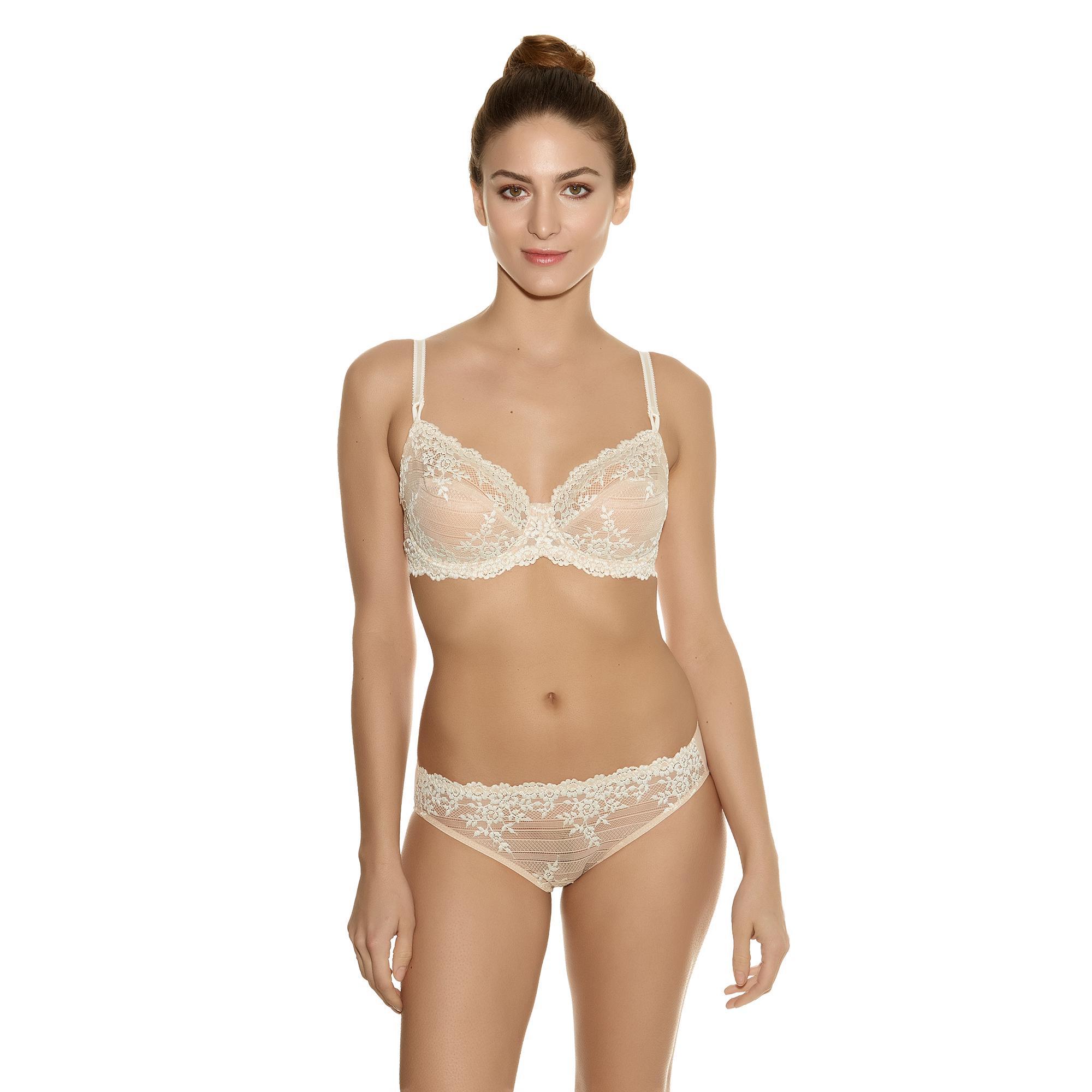 Wacoal EMBRACE-LACE Soutien-gorge + Bikini Beige/Blanc