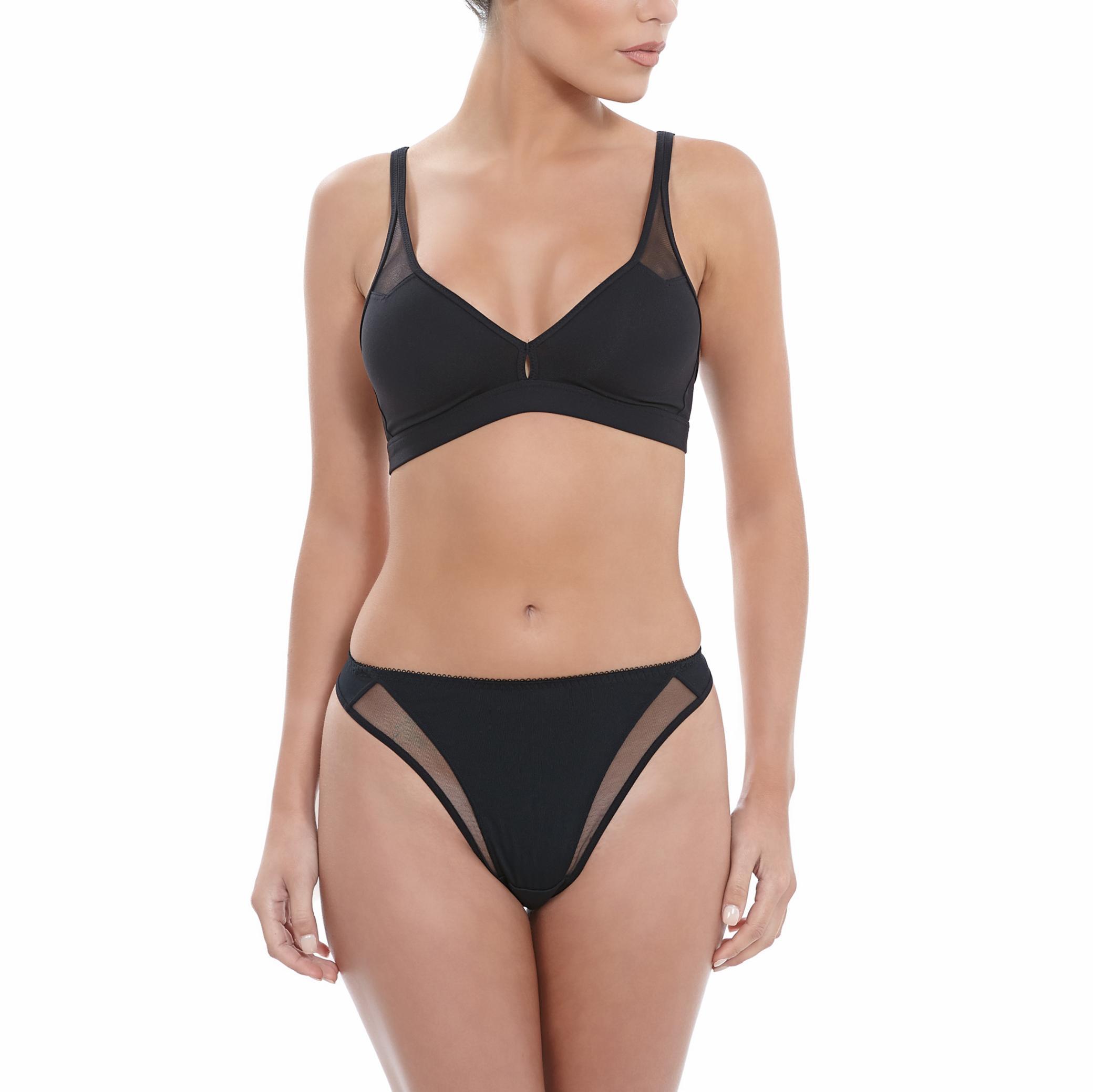 Wacoal Body soutien-gorge sans armature + string noir