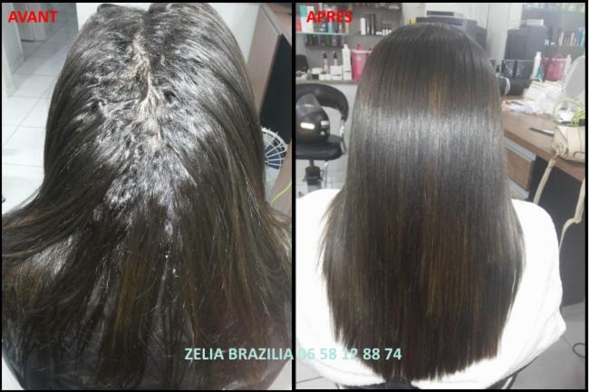 Lissage brésilien Avant / Après cosmétique cheveux lissage Brésil coiffure