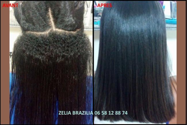 Lissage brésilien Avant / Après cheveux lissage Brésil coiffure coiffeur