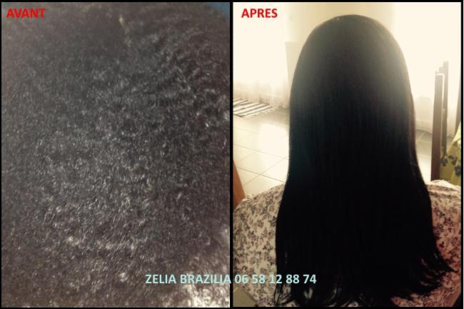 Lissage brésilien Avant / Après lissage Brésil coiffure coiffeur coiffeuse
