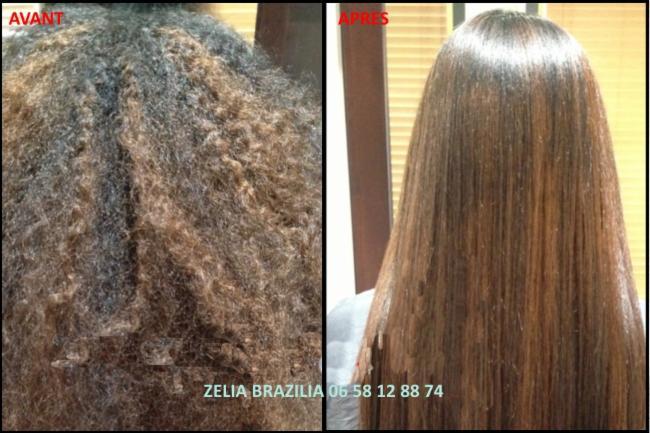 Lissage brésilien Avant / Après coupe shampoing après-shampoing masque hydratation