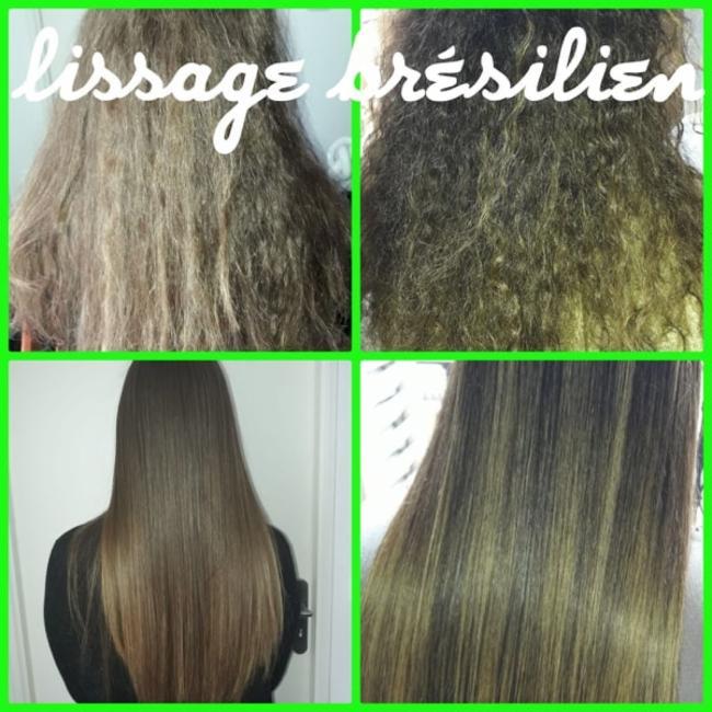 avant et aprés produit cosmétique cheveux lissage Brésil