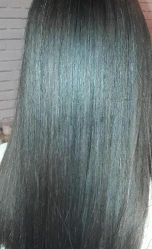 avant et aprés cosmétique cheveux lissage Brésil coiffure