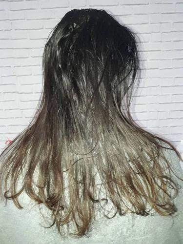 avant et aprés cheveux lissage Brésil coiffure coiffeur