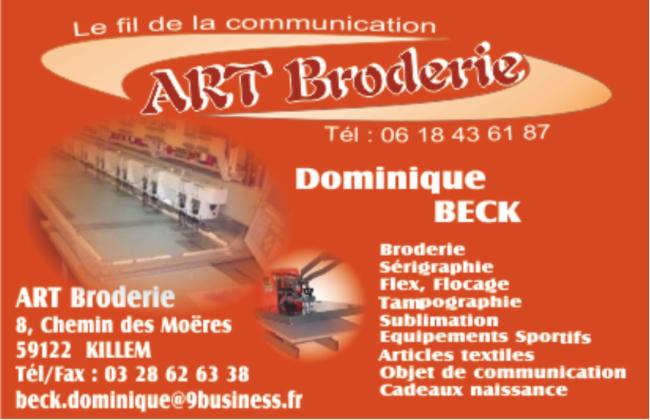ART Broderie KILLEM Transfert Marquage tout support Articles textiles