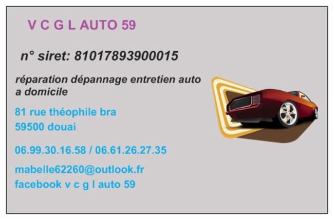 V C G L AUTO 59 Douai mécanique auto V C G L AUTO 59