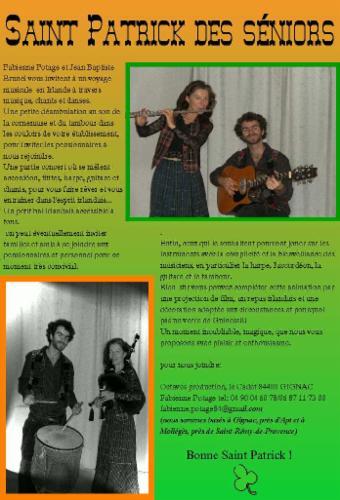 la Saint Patrick des seniors musique pour les seniors bal irlandais instruments à vent