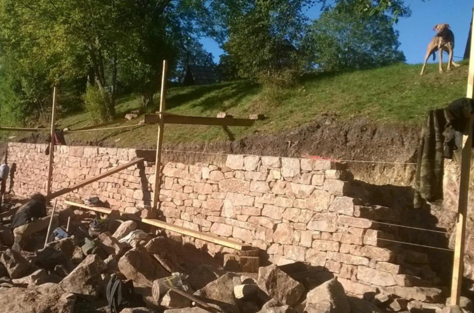 "2 Maçon ""Mur-Muret"" en pierres sèches Murailler en pierres sèches Maçon Tailleur De Pierre, Murailler"