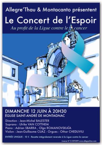 Concert à l'Eglise Saint-André de Montagnac Concert de la musique classique Cours particuliers MUSIQUE CLASSIQUE