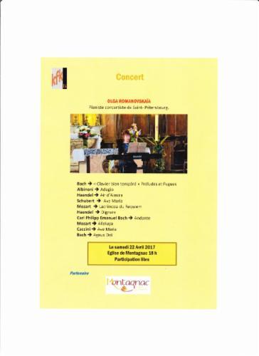 Concert le 22 avril 2017 MUSIQUE CLASSIQUE Concert de la musique classique Cours particuliers