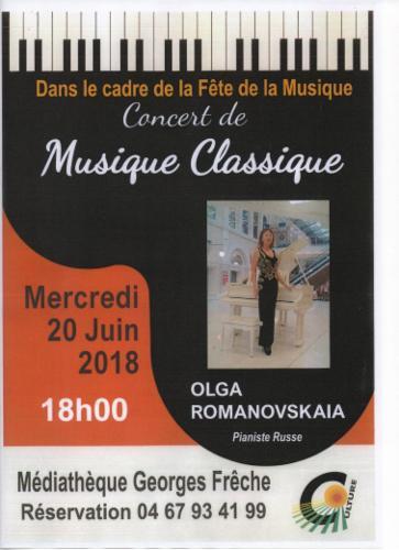 Fête de la musique Cazouls les Béziers 20 juin 2018 à 18h à la médiathèque