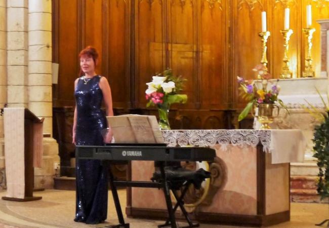 Concert à l'Eglise saint-André de Montagnac Cours particuliers de piano Cours de piano et chant