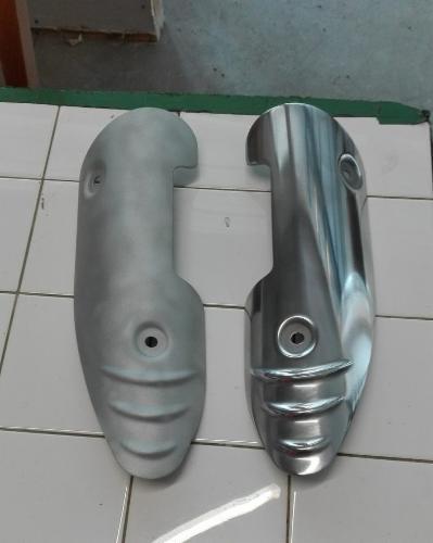 Microbillage et polissage rénovation peinture façade pièces automobile pièces moto
