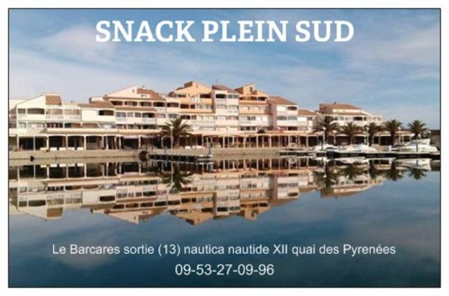 Snack Plein Sud Le Barcares Burger Cuisine Française Restauration rapide