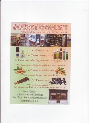 Secret d'Orient TOURCOING PRODUITS COSMETIQUES PRODUITS COSMETIQUES PRODUITS COSMETIQUES