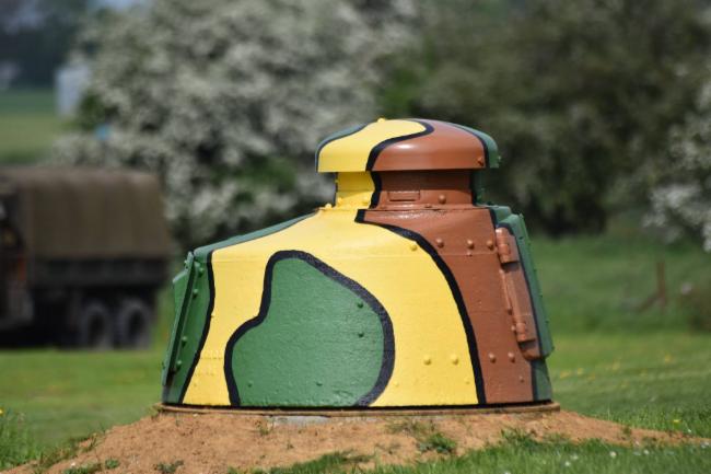 Tourelle FT 17 pour mitrailleuse Ouvrage de 1935-1938 type Maginot Musée et Histoire du secteur fortifié de Maubeuge