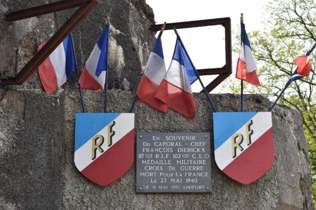 Hommage au Caporal chef François Diericks Ouvrage de 1889-1892 Séré de Riviére Ouvrage de 1935-1938 type Maginot