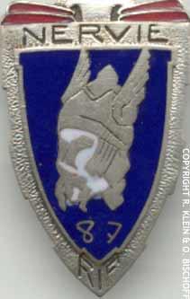 Insigne de la 87e RIF (régiment d'infanterie de forteresses )