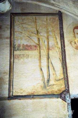Peintures, fresques sur les murs de l'ouvrage. Musée et Histoire du secteur fortifié de Maubeuge