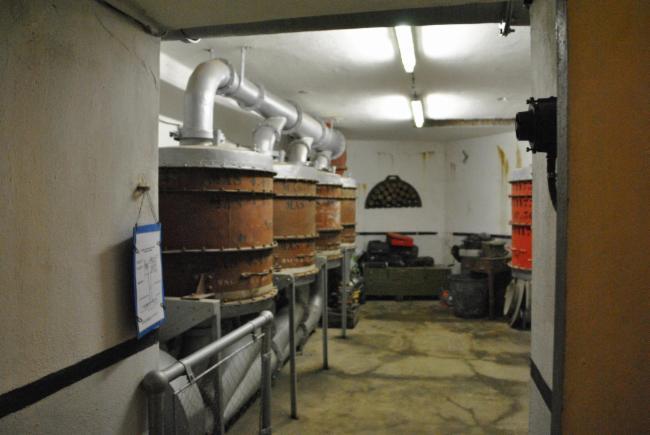 Salle des Filtres Musée et Histoire du secteur fortifié de Maubeuge Ouvrage de 1889-1892 Séré de Riviére