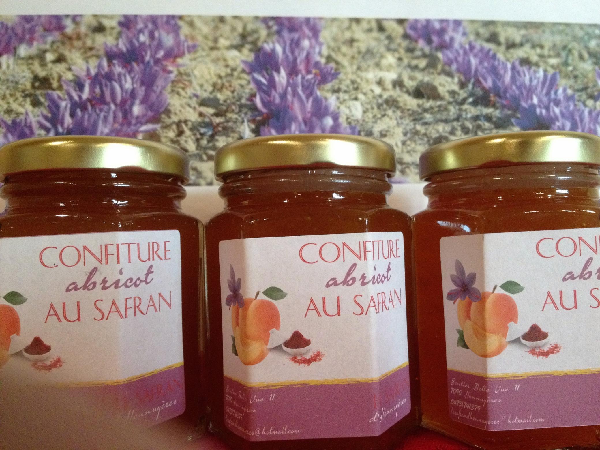 confiture abricot au safran