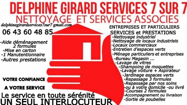 DELPHINE GIRARD SERVICES 7 SUR 7 7 SUR 7 Nettoyage et Services associés Nettoyage et Services associés