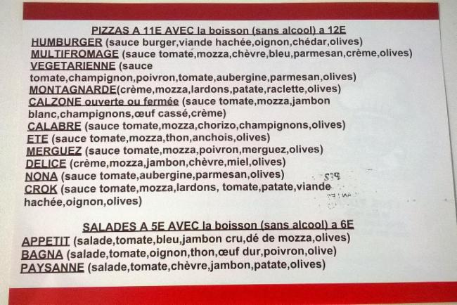 CROK PIZZA Juans-Les-Pins pizza Cuisine Italienne Restauration rapide
