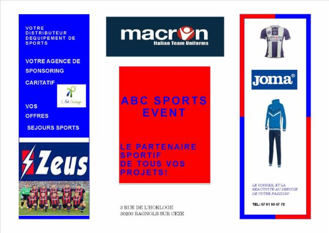ABC SPORTS EVENT Saint Julien De Peyrolas magasin de sports conseil en sponsoring et equpements sportifs