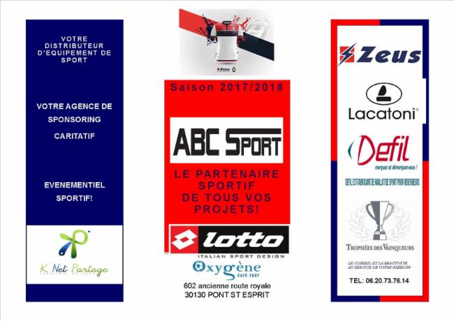 ABC SPORTS EVENT Pont Saint Esprit magasin de sports conseil en sponsoring et equpements sportifs