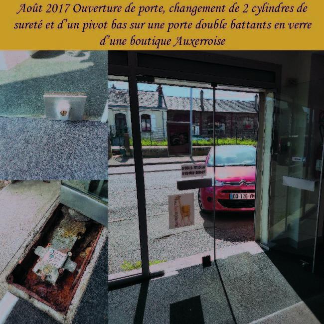 Porte vitrée Auxerre Serrurerie Homme toutes mains - Plomberie - Electricité Fermeture et Automatisme.