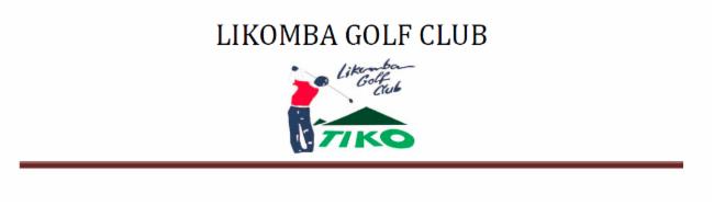 LIKOMBA GOLF CLUB TIKO association sportive association sportive association sportive