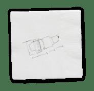 Concept on a napkin