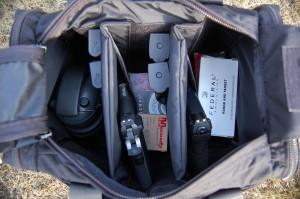 Range ready pistol range bag