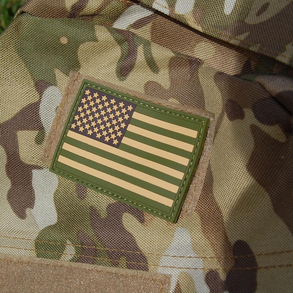 American Flag PVC Patch on Bag
