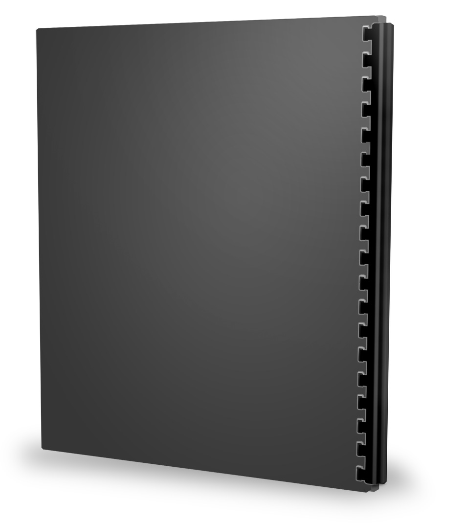 create your own binder standing left mockup online