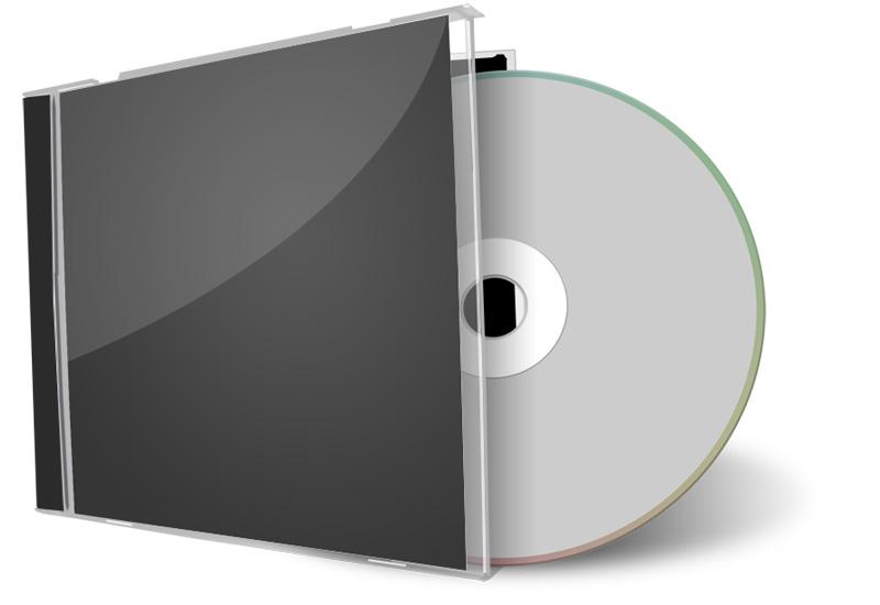 CD Case Blank Disc Mockup
