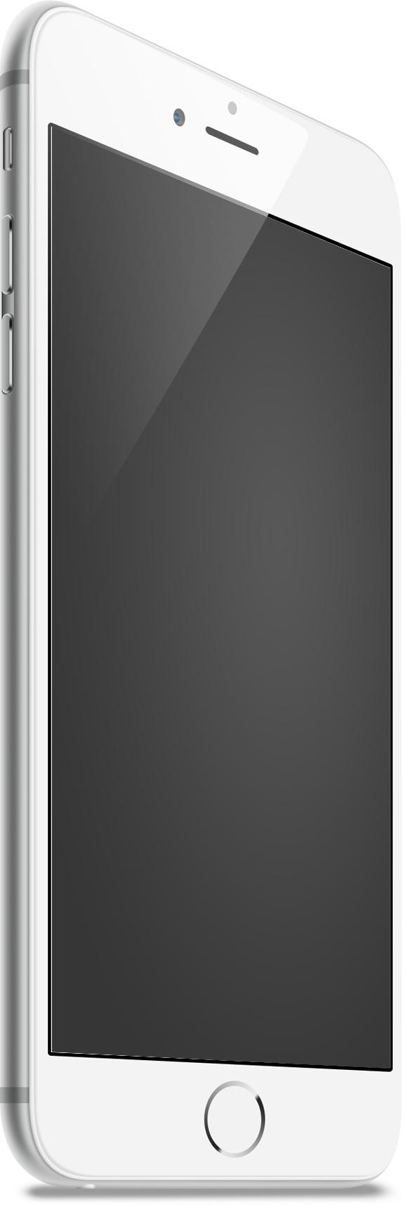 IPhone6 White Left Mockup