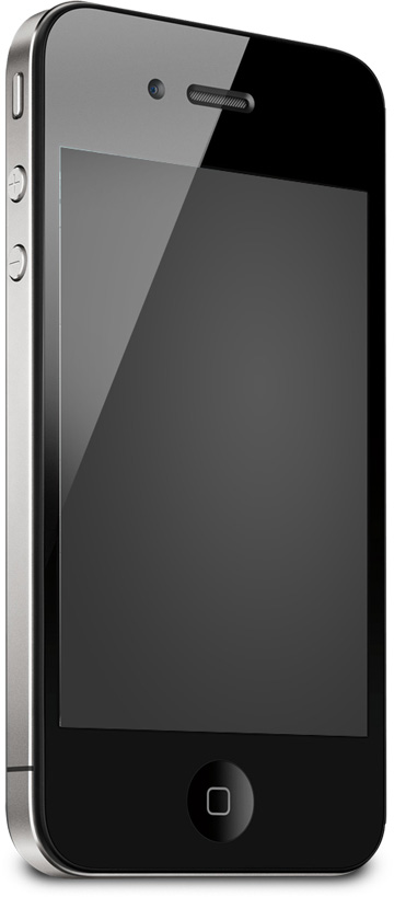 Iphone face right Mockup