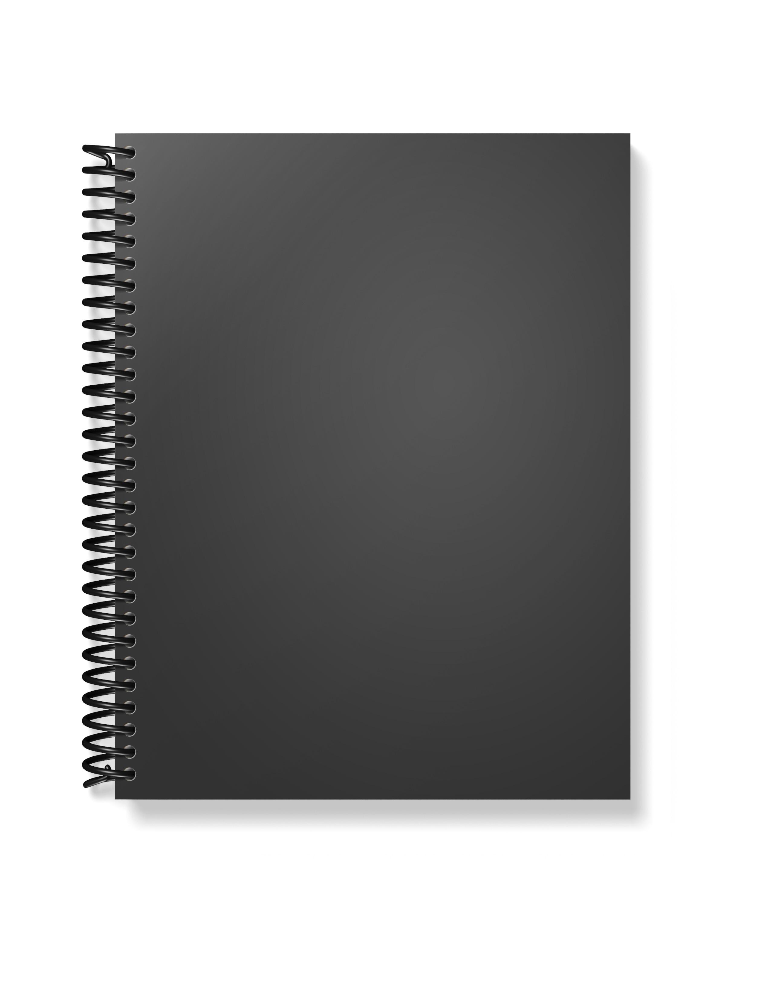 Notebook front Mockup